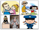 Thank You Policeman Picture Match Task Cards (1st Grade Level)