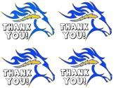 Thank You Postcard Horse mascot