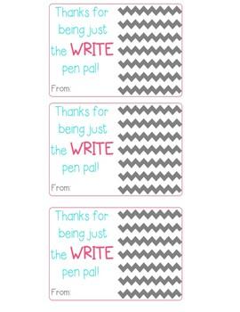 Thank You Printable {Pen Pals}