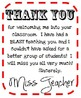 """Thank You"" Printables"