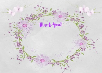 Thank You - Purple Wreath