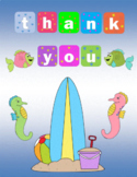 Thank You Quarter Fold Card End of Year Teacher to Student/Parent