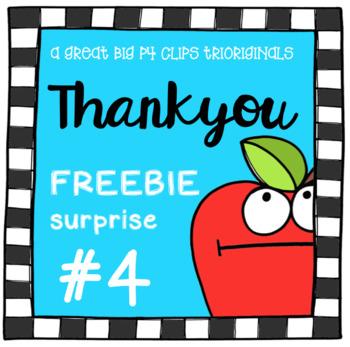 Thank You SURPRISE #4 (P4 Clips Trioriginals Clip Art)