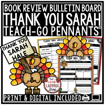 Thank You, Sarah - Thanksgiving Reading Activity  • Teach- Go Pennants™