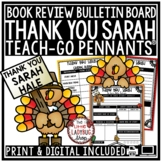 Thank You, Sarah Activities Thanksgiving Reading Activity Teach- Go Pennants™