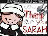 Thank You, Sarah - Literacy Resources