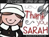 Thank You, Sarah - Literacy Resources