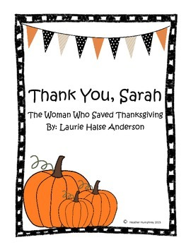 Thank You, Sarah Literacy Unit