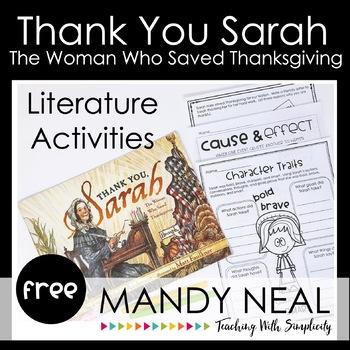 Thank You, Sarah Literature Activities