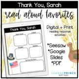 Thank You, Sarah Read-Aloud Digital Activities