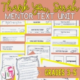 Thank You Sarah - Thanksgiving ELA Lessons for grades 3-5