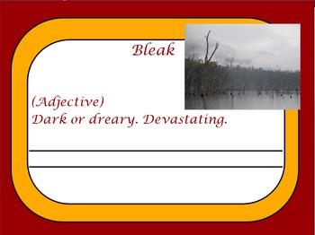Thank You Sarah - Vocabulary Flipchart