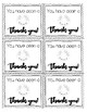 End of Year Thank You Tags Black and White