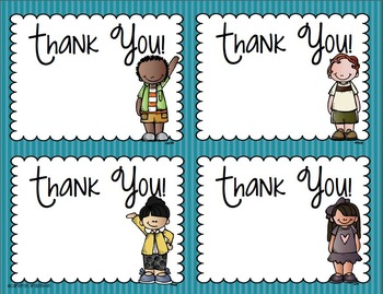 Thank You Tags Cards Labels Notes for Parents or Volunteers