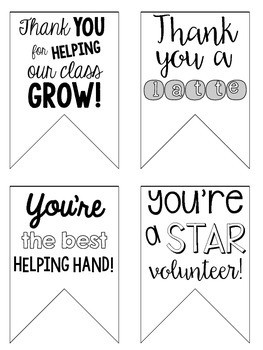Thank You Tags {For Classroom Volunteers}