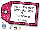 Thank You Tags for Volunteers   **FREEBIE**