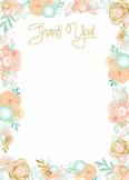Thank You / Teacher Appreciation / Mother's Day / Grandparents /Clipart Flower