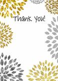 Thank You / Teacher Appreciation / Mother's Day / Grandpar