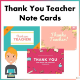 Thank You Teacher Note Card Templates