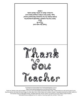 photo relating to Printable Fonts identify Thank Oneself Trainer take note card printable black cloth font / letters