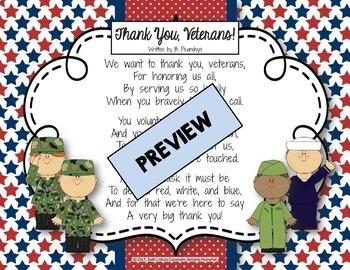 Thank You, Veterans! Original Poem/Note for Veterans Day!