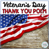 Thank You, Veterans! Original Poem/Note for Veterans Day!