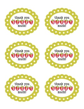Thank You Volunteer Treat Tags