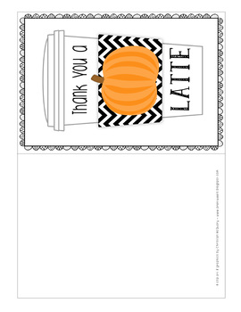 Thank You a Latte Tags - Pumpkin