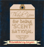 Thank You for Being Scentsational Gift Tags