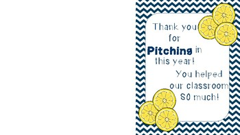 Thank You for Pitching In