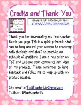 Thank You for Teachers