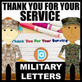 Thank You for Your Service | 2 Blank Letters for Writing t