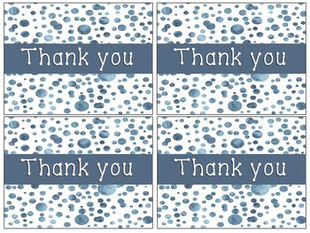 Thank You note cards-Watercolor Confetti