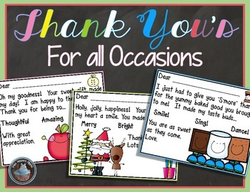 Thank You's for all Occasions