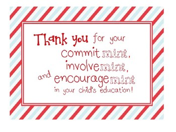 photo regarding Thank You for Your Commit Mint Printable titled Thank By yourself Mints For Moms and dads Worksheets Instructors Fork out Academics
