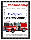 Thank You to Firefighter: From 1st Grade