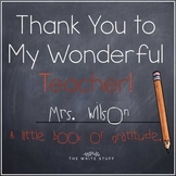 Teacher Appreciation Gift Book