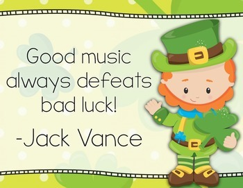 Thank Your Lucky Clover for Music - St. Patrick's Music Advocacy Bulletin Board