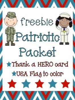 Thank a HERO Patriotic Packet freebie