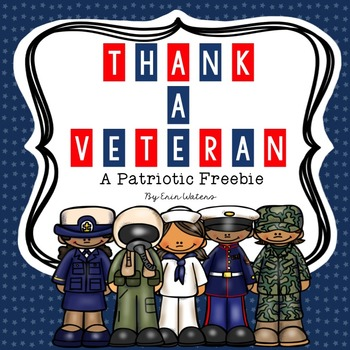 Thank a Veteran: A Patriotic Veterans Day FREEBIE