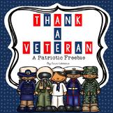 Thank a Veteran: A Patriotic Veterans Day FREEBIE
