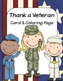 Thank a Veteran - Cards and Coloring Page