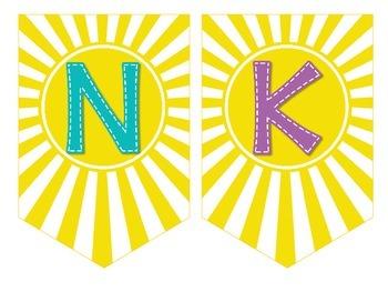 Thank you Banner {BEACH version} | Volunteer Appreciation FREEBIE