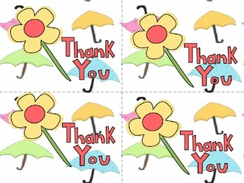 Thank you Cards and Teacher Notes Templates