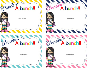 Thank you Cards-Freebie