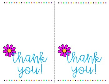 Thank you Cards for Any Occasion ~ Blank Inside