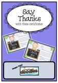 Thank you Certificates