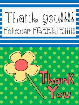 Thank you!!! Follower FREEBIE