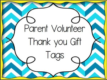 Thank you Gift Tag- Parent Volunteers