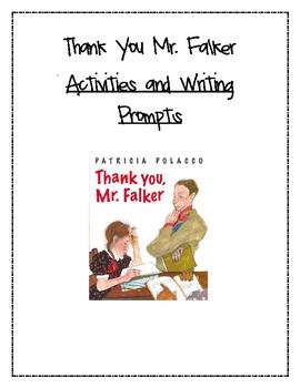 Thank you Mr. Falker Language Arts Activities